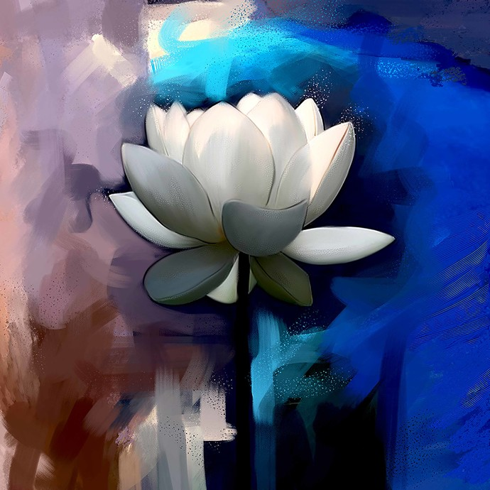 Flower - 52 Digital Print by The Print Studio,Digital