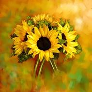 Sunflower - 53 Digital Print by The Print Studio,Digital