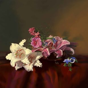 Still Life with Flowers - 58 Digital Print by The Print Studio,Digital