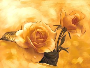 Sepia Rose - 64 Digital Print by The Print Studio,Expressionism
