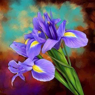 Flowers - 67 Digital Print by The Print Studio,Digital