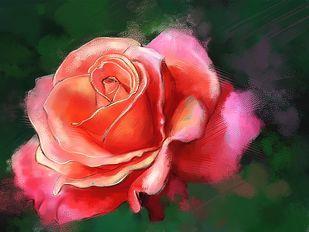 Floral Bloom Digital Print by The Print Studio,Digital