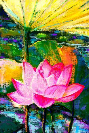 Water Lillies - 80 Digital Print by The Print Studio,Digital