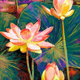 Water Lillies - 81 Digital Print by The Print Studio,Digital