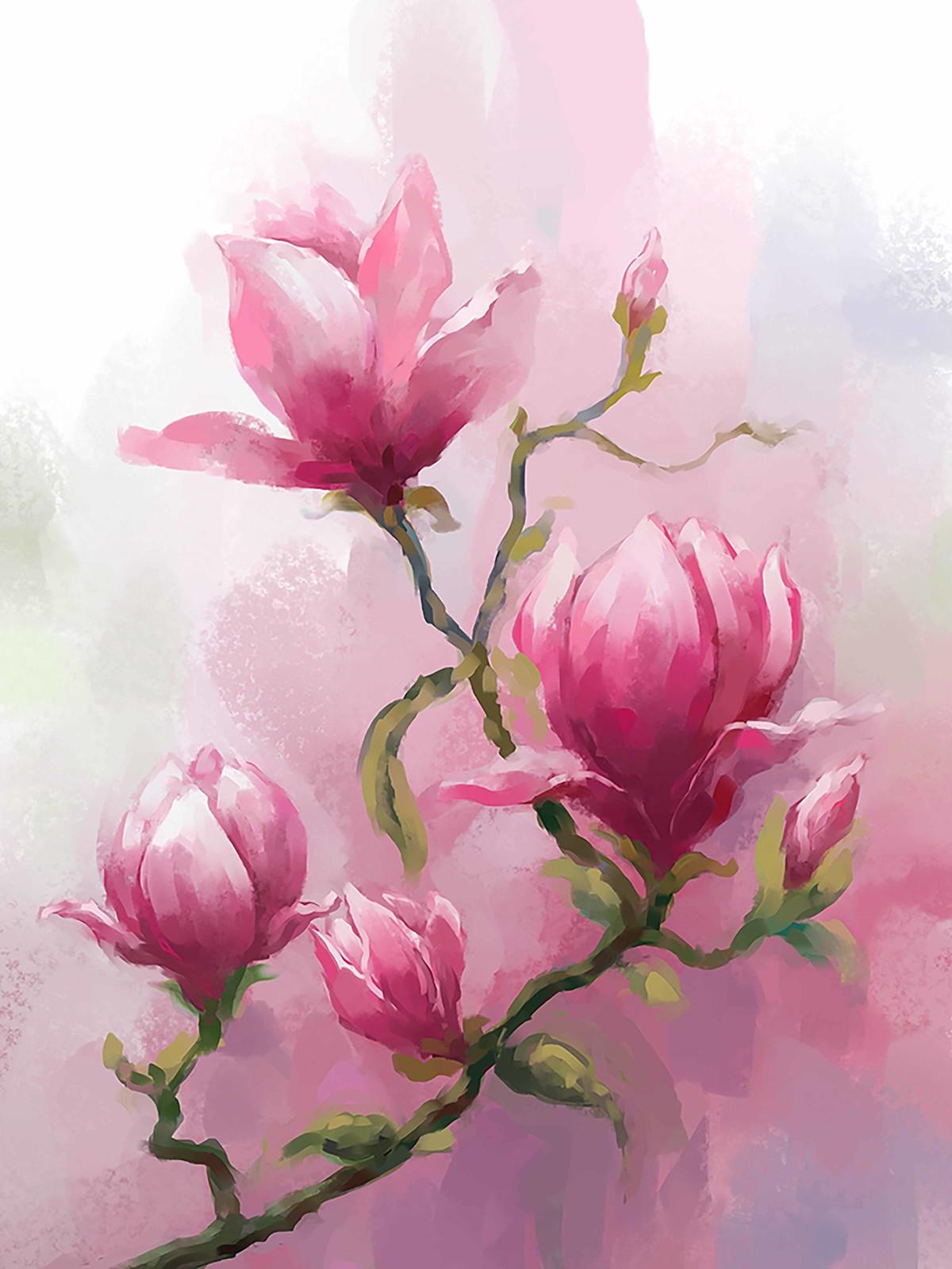 Water Colour Bloom - 83 Digital Print by The Print Studio,Digital
