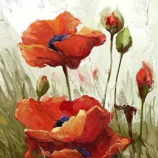 Soft Poppies - 90 Digital Print by The Print Studio,Digital