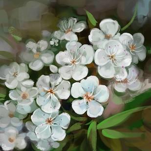 Floral Blooms - 93 Digital Print by The Print Studio,Digital