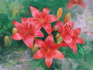 Floral Bloom - 94 Digital Print by The Print Studio,Digital