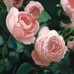 Vintage Roses - 95 Digital Print by The Print Studio,Digital