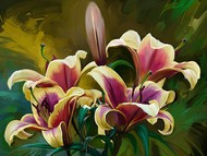 Lillies - 97 Digital Print by The Print Studio,Digital