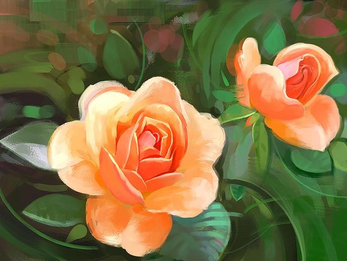 Floral Bloom - 99 Digital Print by The Print Studio,Digital