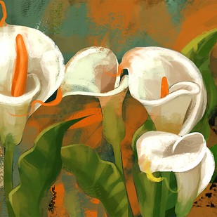 Flotal Blooms - 104 Digital Print by The Print Studio,Digital