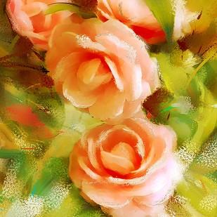 Soft Roses - 111 Digital Print by The Print Studio,Digital
