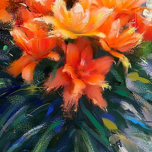 Boquet of Flowers - 114 Digital Print by The Print Studio,Digital
