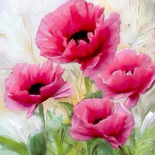 Pink Flowers - 120 Digital Print by The Print Studio,Digital