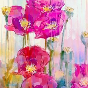 Pastel Flowers - 121 Digital Print by The Print Studio,Digital