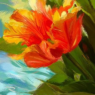 Red Flower - 127 Digital Print by The Print Studio,Digital