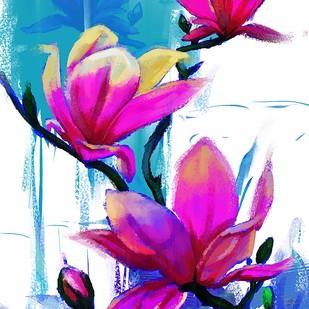 Pink Floral - 128 Digital Print by The Print Studio,Digital