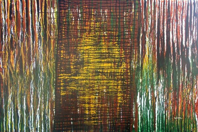 The Earth by Raja Rambabu, Abstract Painting, Acrylic on Canvas,