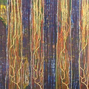 Twilight Harmony by Raja Rambabu, Abstract Painting, Acrylic on Canvas,
