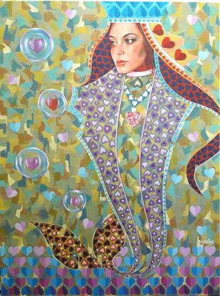 Admiring-1 Digital Print by Santosh,Expressionism