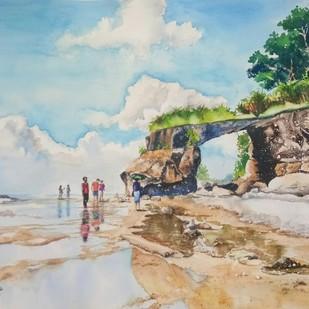 Andaman 3: Natural Bridge, Coral point Digital Print by Lasya Upadhyaya,Impressionism