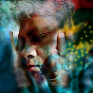 Am I dreaming ? by Bula Bhattacharya, Digital Digital Art, Digital Print on Archival Paper, Green color