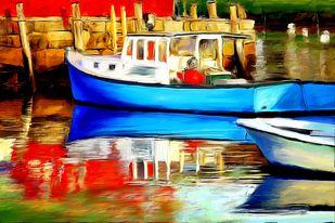 Harbour - 02 Digital Print by The Print Studio,Impressionism