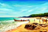 Beach Side - 09 Digital Print by The Print Studio,Impressionism