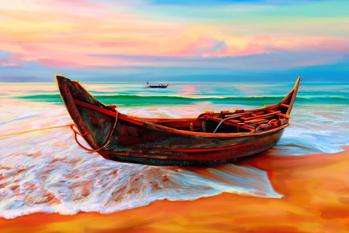 Beach Side - 13 Digital Print by The Print Studio,Impressionism