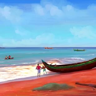 Beach Side - 26 Digital Print by The Print Studio,Impressionism