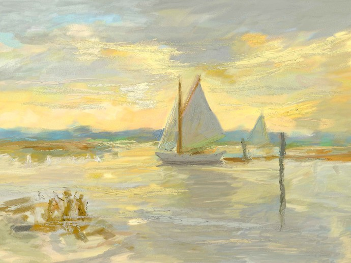 Morning Sun Digital Print by The Print Studio,Impressionism