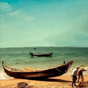 Beach Side - 41 Digital Print by The Print Studio,Impressionism