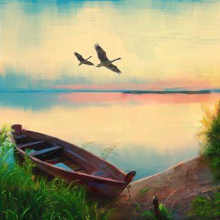 Sunset Sky - 59 Digital Print by The Print Studio,Impressionism