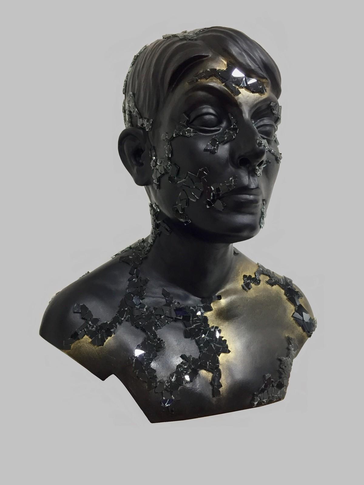 Pixie Cut by Vernika, Art Deco Sculpture | 3D, Fiber Glass, Gray color