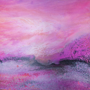 Pink Sky by Pramod Arya, Abstract Painting, Acrylic on Canvas, Purple color