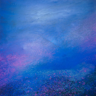 Blue Sky by Pramod Arya, Abstract Painting, Acrylic on Canvas, Blue color