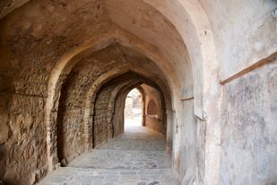 Historic Entrance by Ranjit Nandi, Image Photography, Digital Print on Archival Paper, Brown color