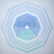 untitled by Shobha Broota, Geometrical Painting, Acrylic on Canvas, Cyan color