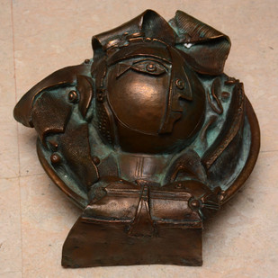Untitled by Laxma Goud, Art Deco Sculpture | 3D, Bronze, Brown color