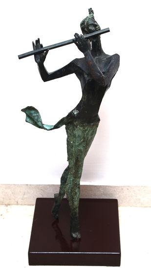 Krishna by Shashi Paul, Art Deco Sculpture | 3D, Bronze, White color