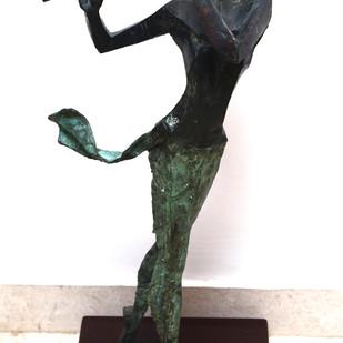 Krishna by Shashi Paul, Art Deco Sculpture   3D, Bronze, White color