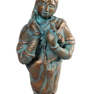 Untitled by Thota Vaikuntam, Art Deco Sculpture | 3D, Bronze, White color