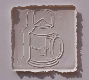 White Memories 01 by Ravikumar Kashi, Art Deco Printmaking, Cast Paper, Brown color