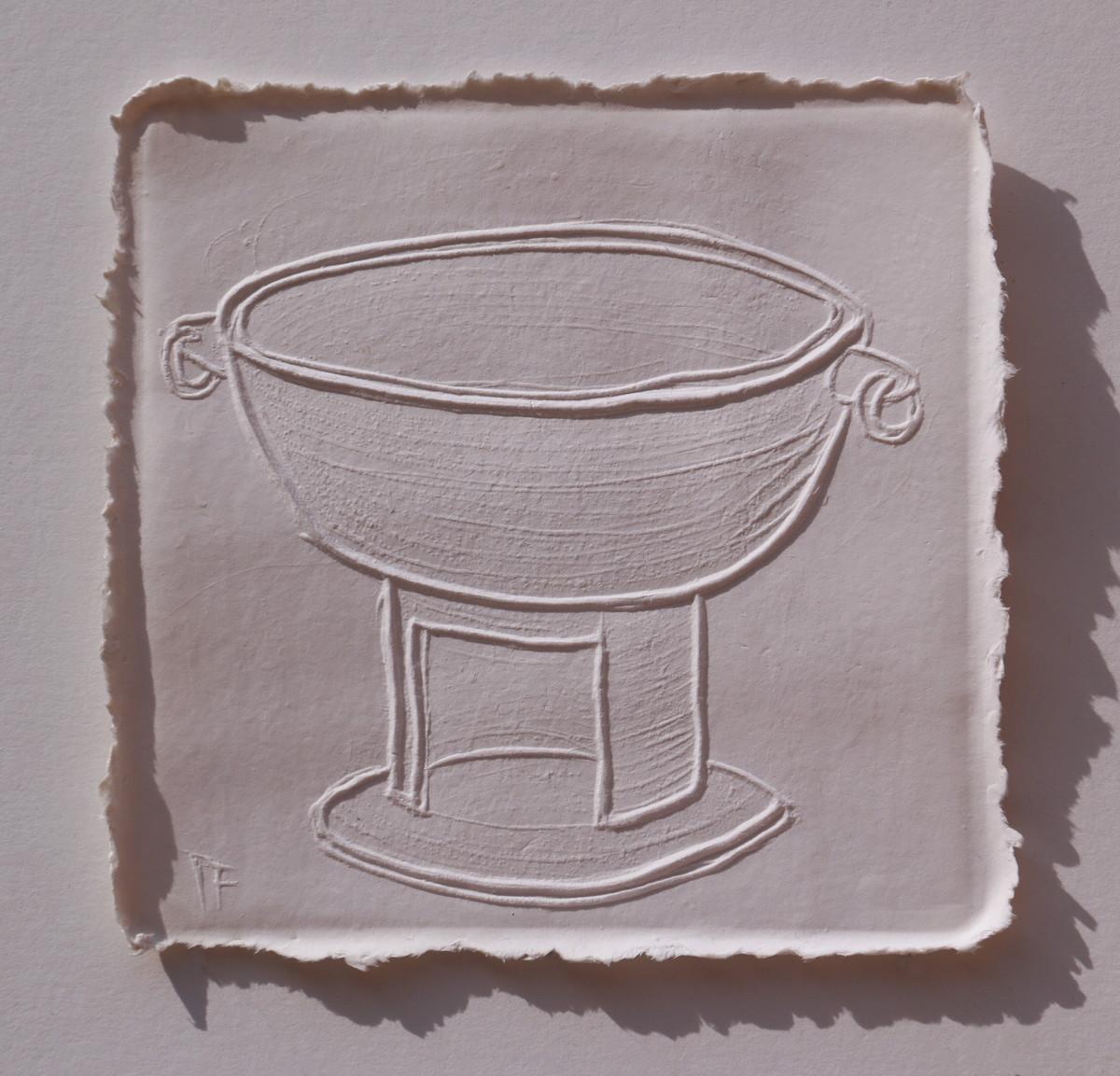 White Memories 08 by Ravikumar Kashi, Art Deco Printmaking, Cast Paper, Brown color