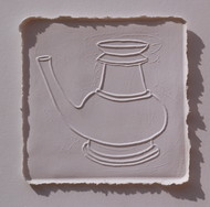 White Memories 09 by Ravikumar Kashi, Art Deco Printmaking, Cast Paper, Brown color