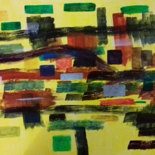 Untitled by Niroop Thomas, Abstract Painting, Acrylic on Paper, Green color
