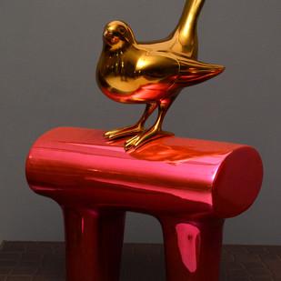 Bird Series by Mousumi Biswas, Art Deco Sculpture | 3D, Fiber Glass, Brown color
