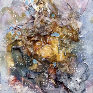 Leviathan - 3 by Viraag Desai, Abstract Painting, Mixed Media on Canvas, Brown color