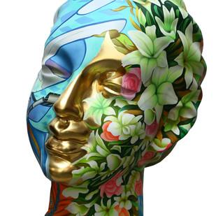 Head(19E82) by Venkat Bothsa, Art Deco Sculpture | 3D, Fiber Glass,